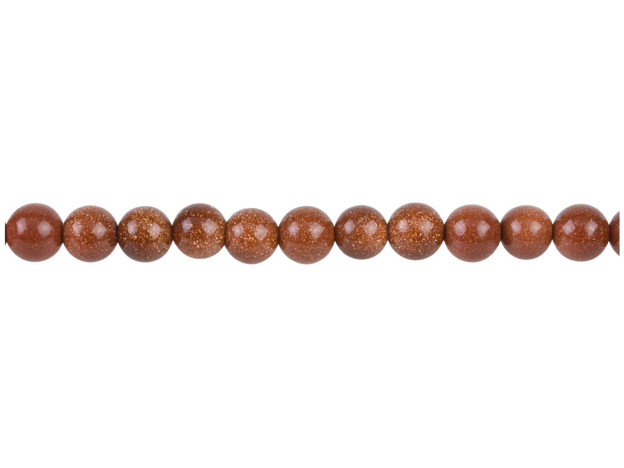Goldstone Beads, 8mm Round,        16