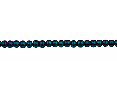 Electroplated Hematite Semi        Precious Round Beads, Blue, 4mm,   1640cm Strand