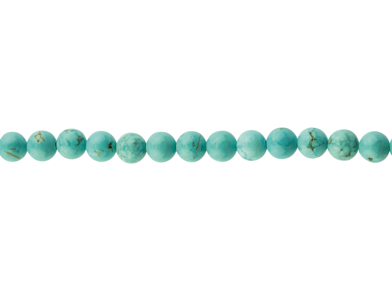Dyed Howlite Semi Precious Round   Beads, 6mm, 16