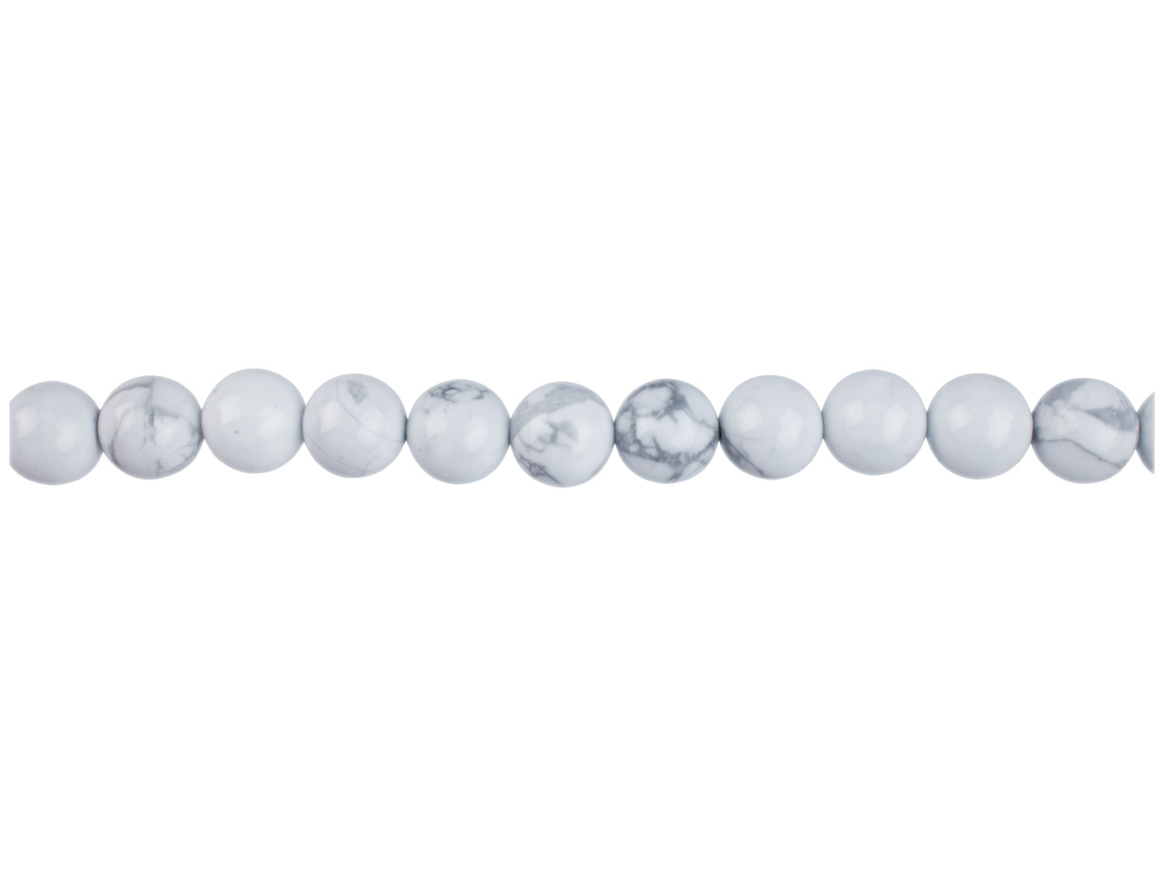 Howlite Semi Precious Round Beads  6mm,16