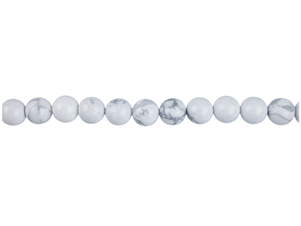 Howlite Semi Precious Round Beads  8mm, 16