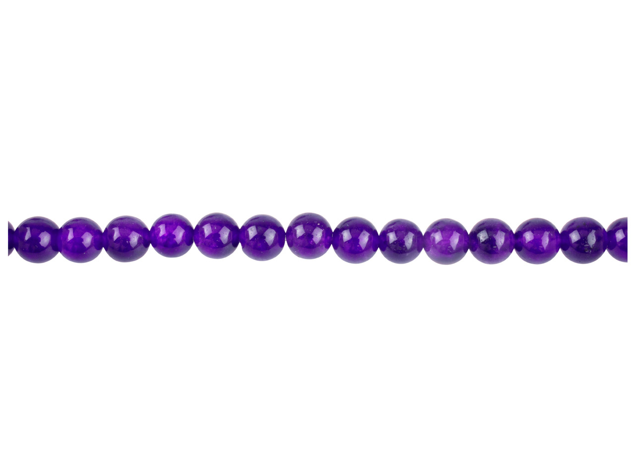 Dyed Lilac Jade Semi Precious Round Beads 6mm, 16