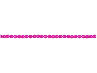 Dyed Pink Jade Faceted Semi        Precious Round Beads 4mm, 1640cm Strand
