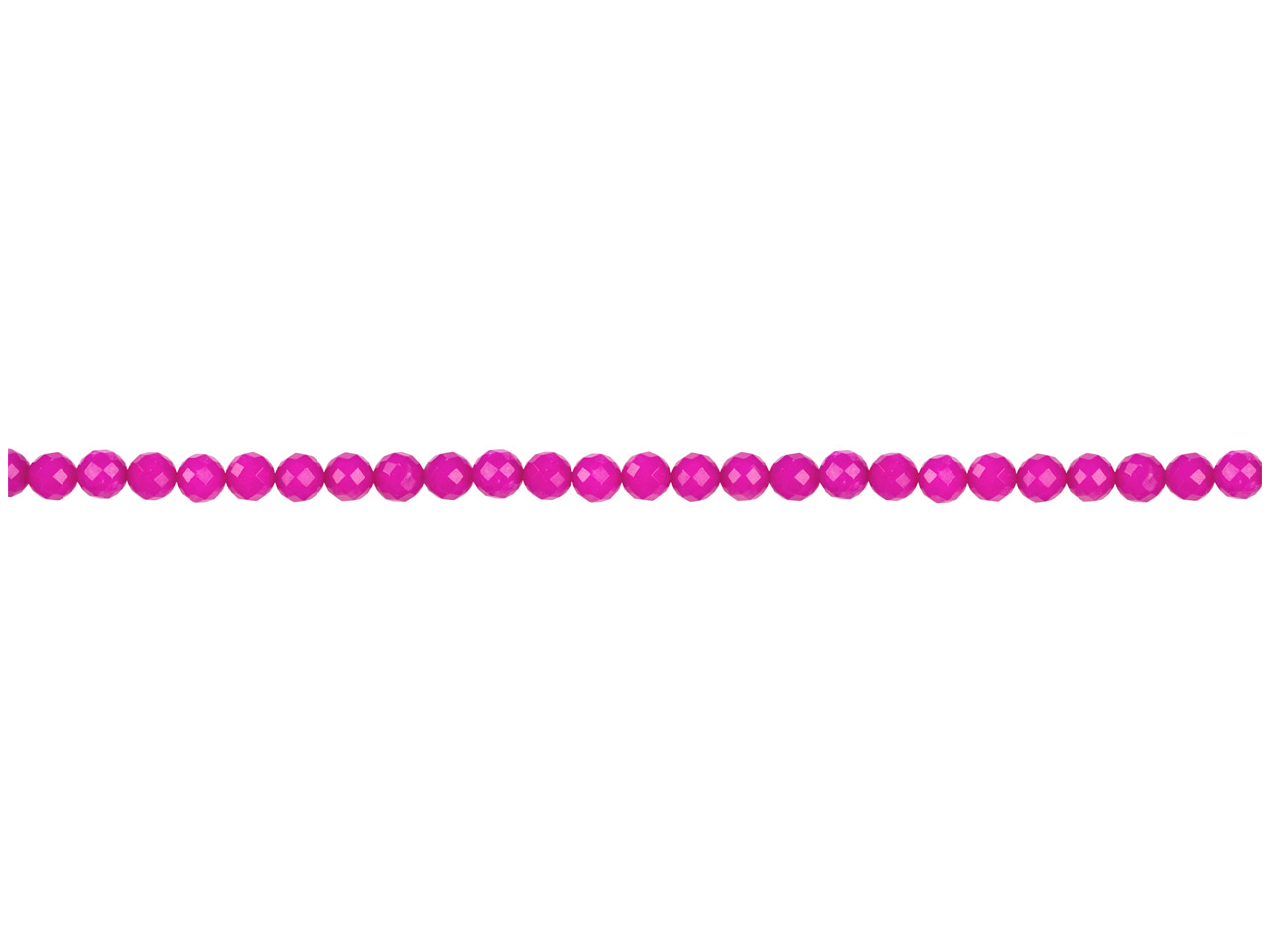 Dyed Pink Jade Faceted Semi        Precious Round Beads 4mm, 16