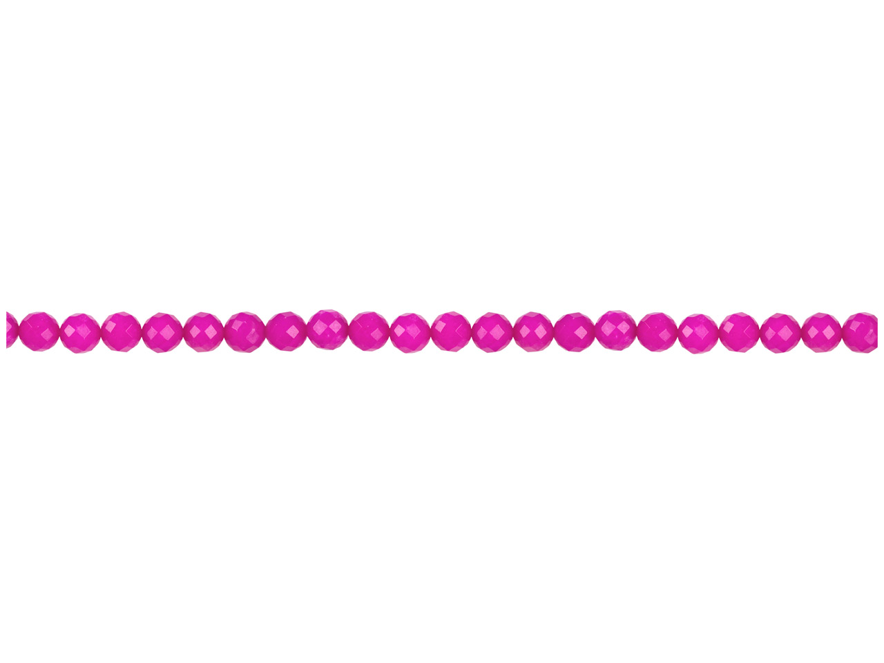 Dyed Pink Jade Faceted Semi        Precious Round Beads 6mm, 16