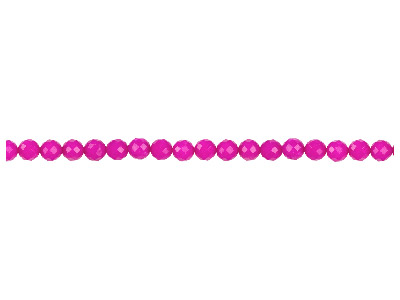 Dyed Pink Jade Faceted Semi        Precious Round Beads 8mm, 1640cm Strand
