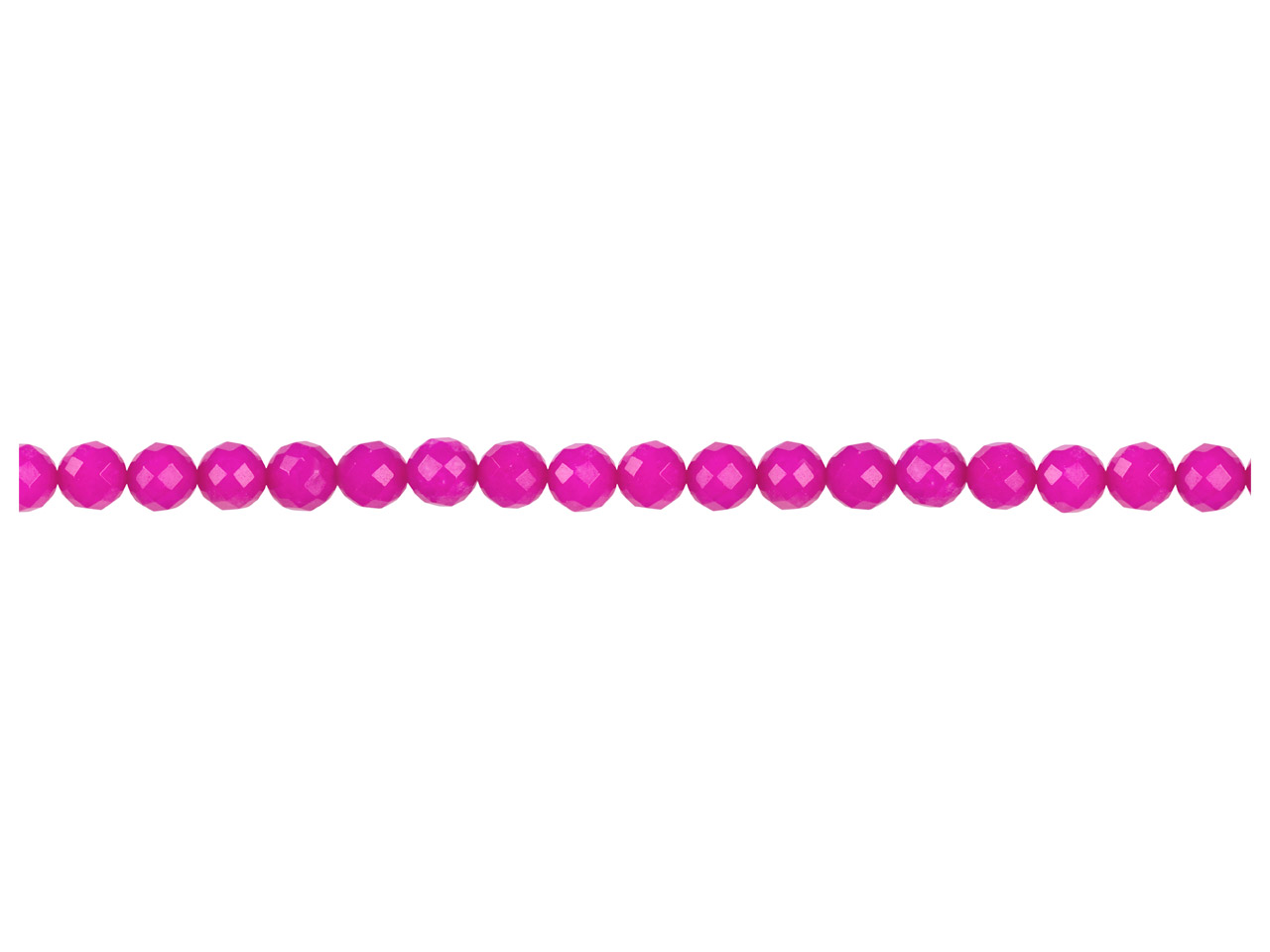 Dyed Pink Jade Faceted Semi        Precious Round Beads 8mm, 16