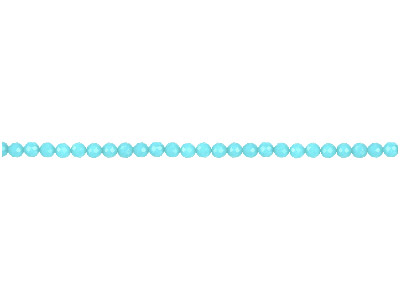 Dyed Aqua Jade Faceted Semi Precious Round Beads 4mm 1640cm Strand