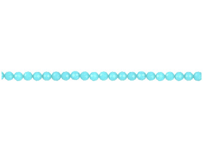 Dyed Aqua Jade Faceted Round       Precious Round Beads 6mm, 1640cm Strand