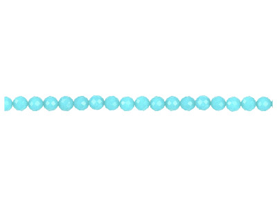 Dyed Aqua Jade Faceted Round       Precious Round Beads 8mm, 1640cm Strand