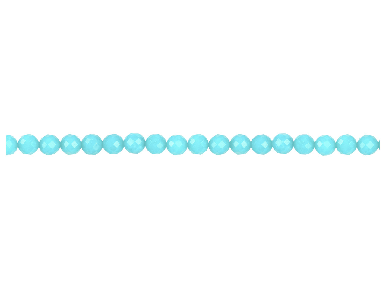 Dyed Aqua Jade Faceted Round       Precious Round Beads 8mm, 16