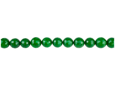 Dyed Green Jade Faceted Semi       Precious Round Beads 6mm, 1640cm Strand