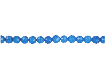 Dyed Blue Jade Faceted Semi        Precious Round Beads 6mm, 1640cm Strand