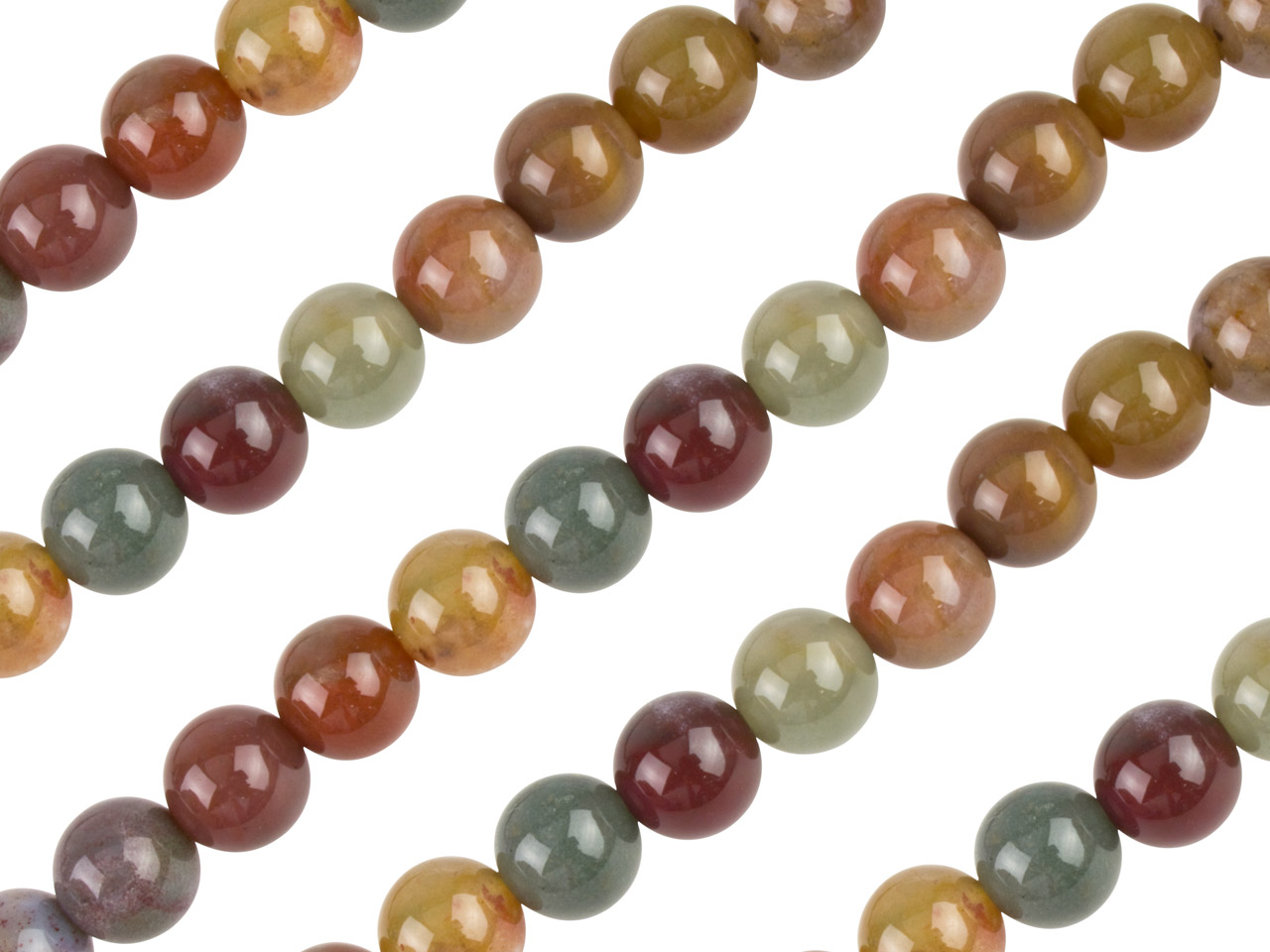 Fancy Jasper Semi Precious Round   Beads 4mm 16