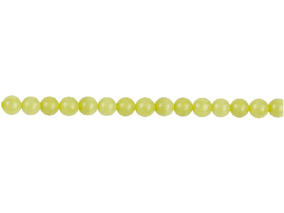 Lemon Jasper Semi Precious Round   Beads 4mm 1640cm Strand