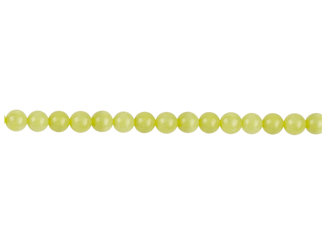 Lemon Jasper Semi Precious Round   Beads 6mm 16