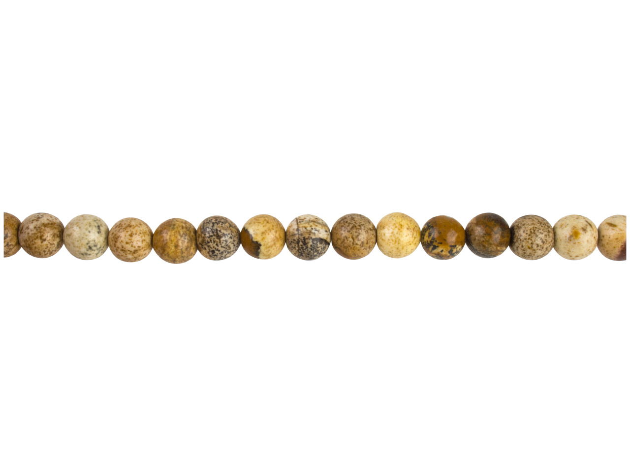 Picture Jasper Semi Precious Round Beads 8mm,16