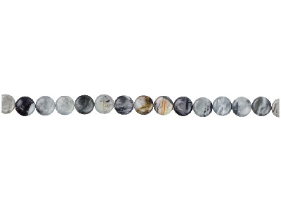 Picasso Jasper Semi Precious Coin Beads 20mm, 16
