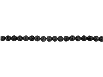 Black Lava 6mm Semi Precious Round Beads, 1640cm Strand