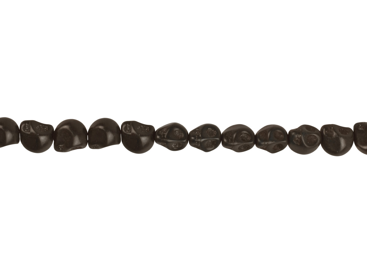 Black Dyed Magnesite Skull Beads,  12mm, 16