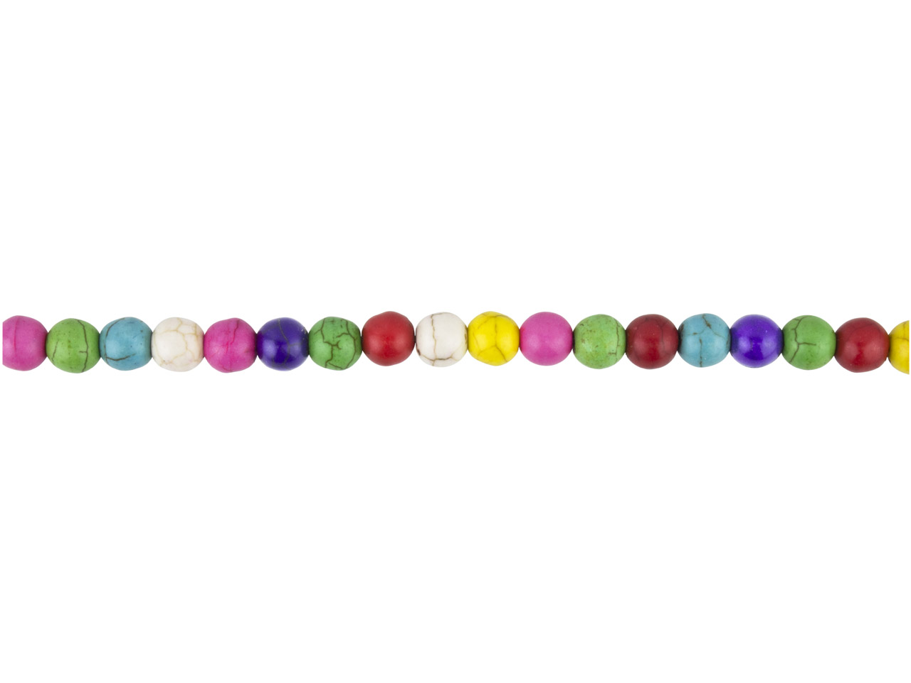 Multi Colour Magnesite Round Beads, 8mm, 16