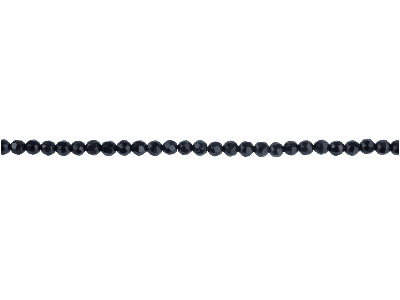Onyx Semi Precious Faceted Round   Beads 4mm, 1640cm Strand