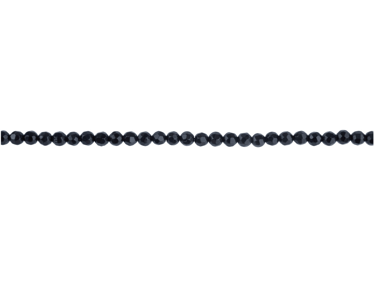 Onyx Semi Precious Faceted Round   Beads 4mm, 16