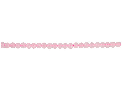 Rose Quartz Semi Precious Round    Beads 4mm, 1640cm Strand