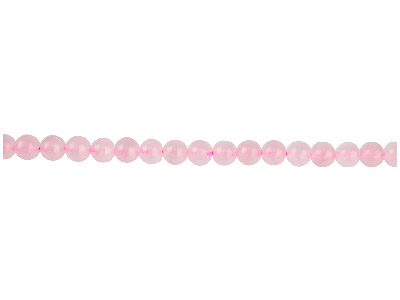 Rose Quartz Semi Precious Round    Beads 6mm, 1640cm Strand