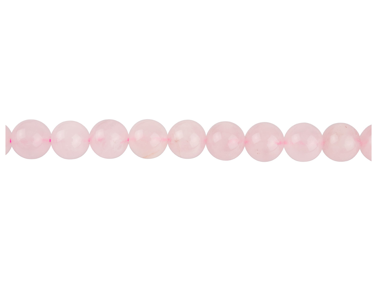 Rose Quartz Semi Precious Round    Beads 10mm, 16