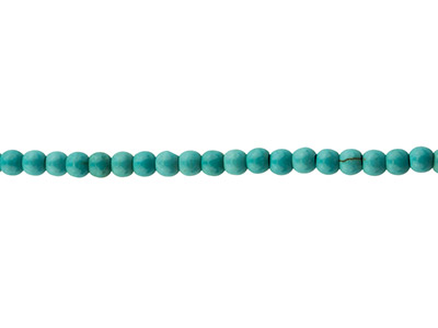 Synthetic Turquoise Semi Precious   Round Beads, 4mm, 15.539cm Strand