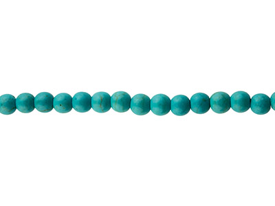 Synthetic Turquoise Semi Precious   Round Beads, 6mm, 15.539cm Strand