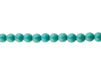 Synthetic Turquoise Semi Precious   Round Beads, 8mm, 15.539cm Strand
