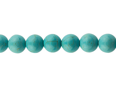Synthetic Turquoise Semi Precious  Round Beads 14mm 15.539cm      Strand