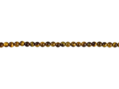Tiger Eye Semi Precious Round Beads 4mm, 1640cm Strand