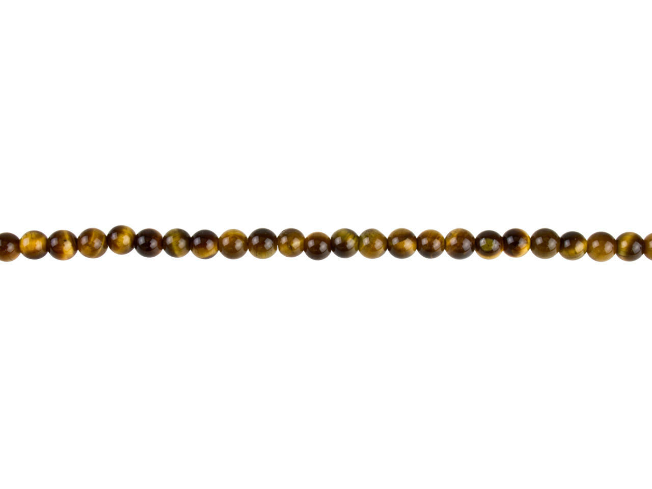 Tiger Eye Semi Precious Round Beads 4mm, 16