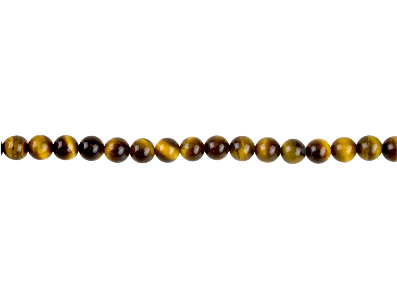 Tiger Eye Semi Precious Round Beads 6mm, 16