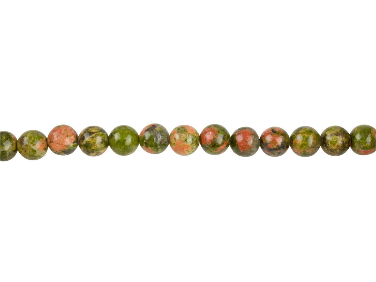 Unakite Semi Precious Round Beads  8mm, 16