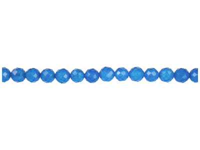 Dyed Blue Jade Faceted Round Beads