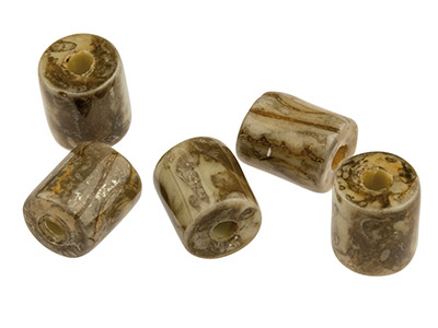 Ceramic-Cylinder-Beads,-Brown,-----5x...
