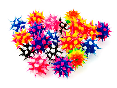 Spikey-Rubber-Beads,-6mm,-Mixed----Co...