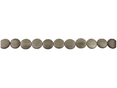 Greywood Flat Round Embossed Beads 20mm 1640cm Strand