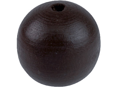 Rich Brown Wood Beads Round 10mm   Small Hole Pack of 60