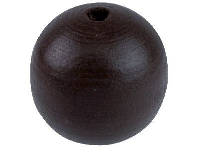 Rich Brown Wood Beads Round 14mm   Small Hole Pack 25