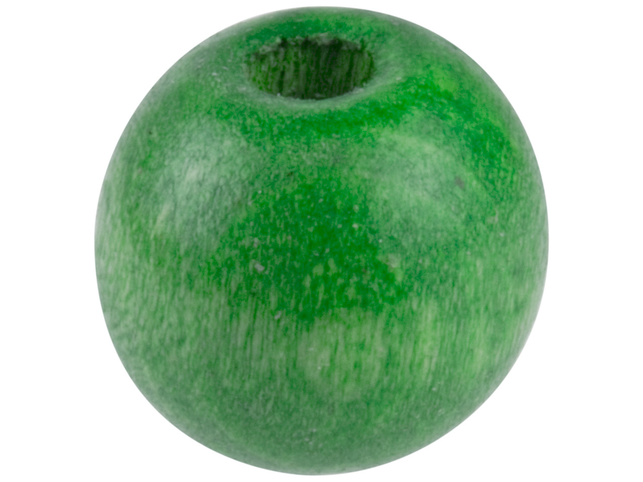 Green Wood Beads Pony 6x7mm Large  Hole Pack of 100,