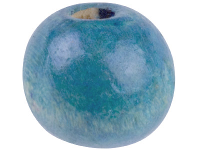 Blue Wood Beads Pony 6x7mm Large   Hole Pack of 100,