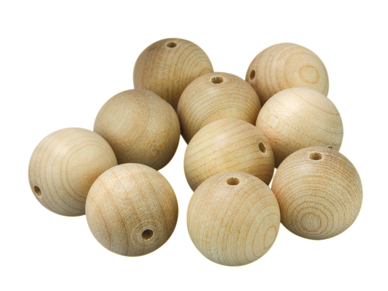 Preciosa Wooden Craft Beads, 25mm, Pack of 10