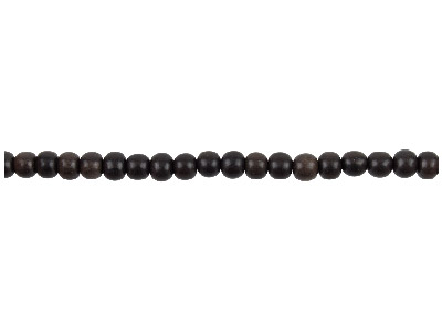 Tiger Ebony Round Beads 6mm        1640cm Strand