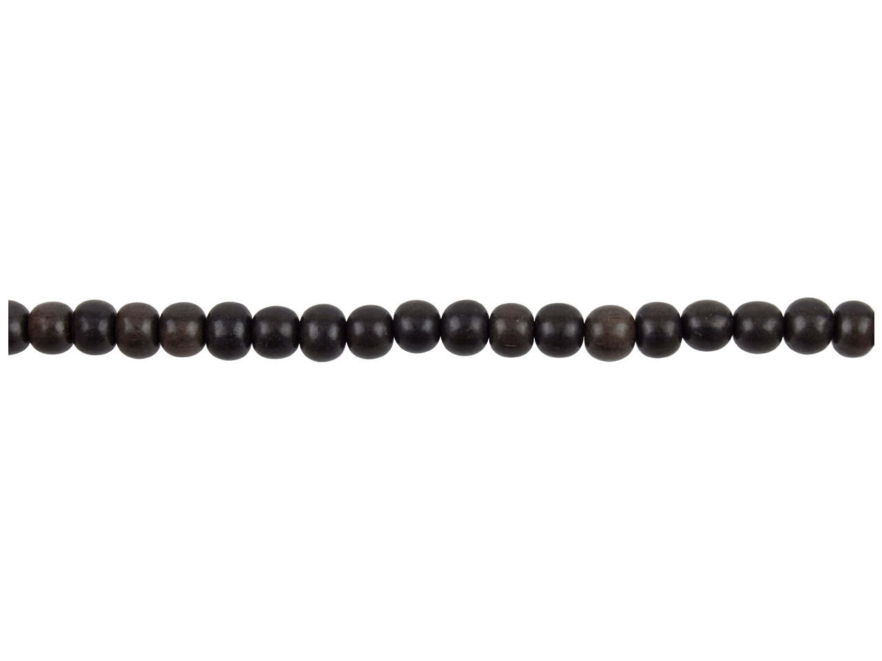 Tiger Ebony Round Beads 6mm        16