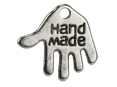 Silver Tone 'hand Made' Hand, 12x13mm